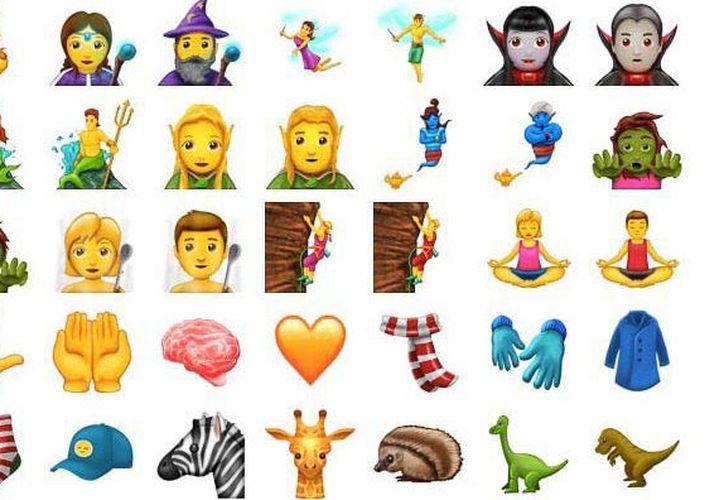 Algunos de los nuevos emojis son: mujer con hijab, mujer amantando, mago, vampiro, entre otros. (Emojipedia).