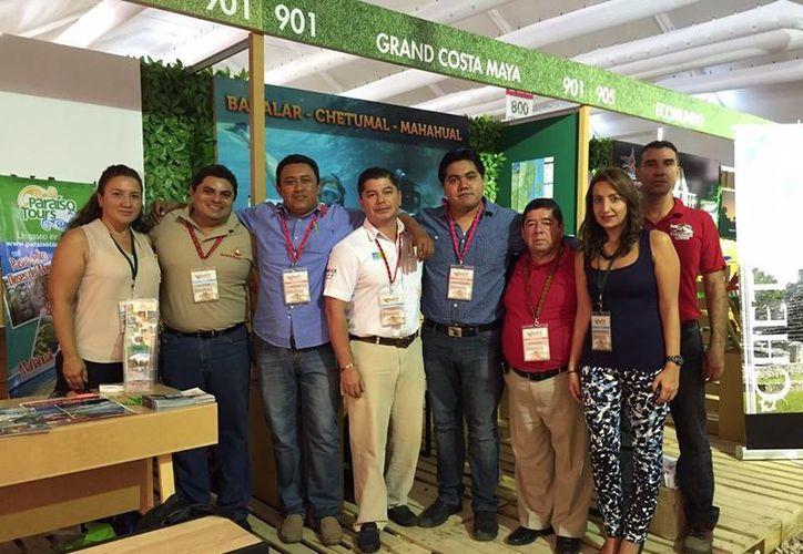 Integrantes del Fideicomiso de Promoción Turística de la Grand Costa Maya están presentes en feria de turismo en Chiapas. (Claudia Martín/SIPSE)