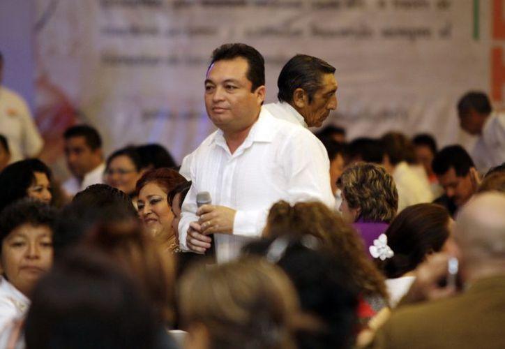 Líderes de la Sección 57 del SNTE presentarán la iniciativa al Gobierno del Estado para que lo revise. (Christian Ayala)