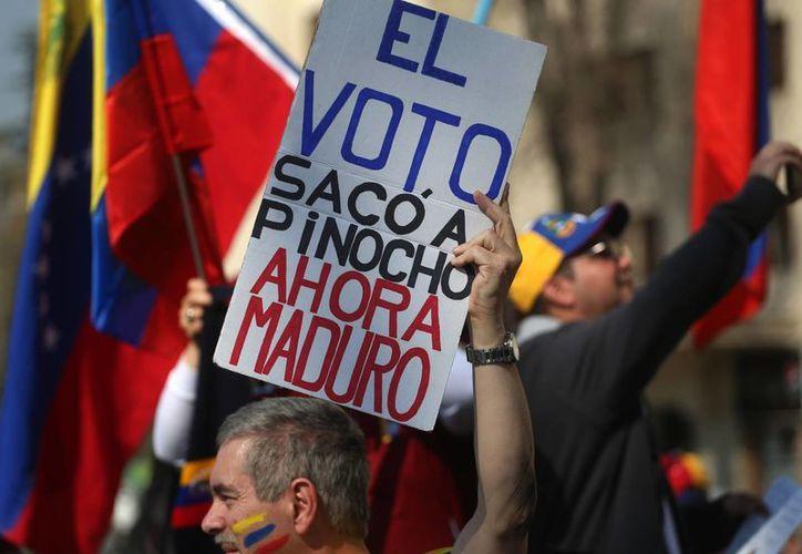 """El gobierno de Nicolás Maduro asegura que la oposición buscaba """"realizar una masacre"""" en la marcha que se realizó en Caracas el pasado 1 de septiembre. (AP/Esteban Felix)"""