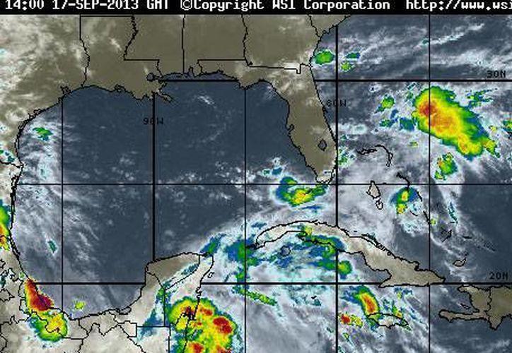 Pronostican 80% de probabilidad de precipitaciones en el estado. (Foto/www.intellicast.com)