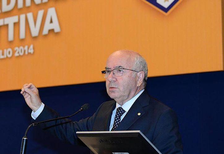 Carlo Tavecchio era un candidato prominente a la presidencia de la Federación Italiana de Fútbol. (figc.it)