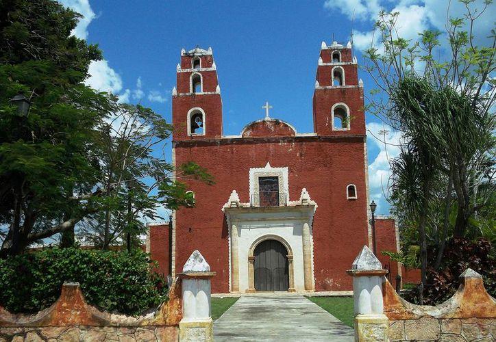 La iglesia principal de Temax también tenía un convento. (Foto: Milenio Novedades)