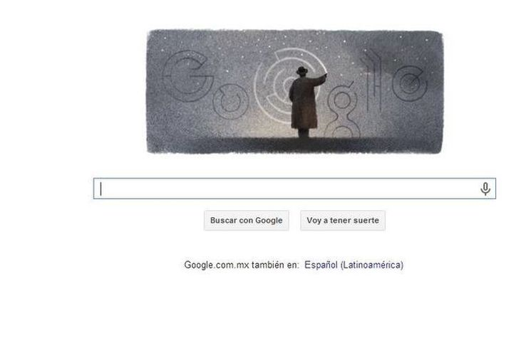 En el nuevo doodle de Google aparece Octavio Paz dibujando sobre el firmamento un laberinto. (Google)