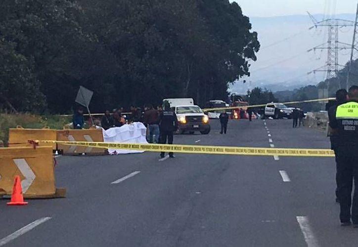 El tramo carretero en el que fueron abatidos era frecuentado por estos ladrones para realizar sus atracos. (Imagen tomada de Enfoque Noticias)