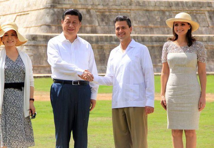 Peña Nieto comentó que la visita de Estado ha sido muy importante para México, porque es un relanzamiento en la relación entre nuestro país y China. (José Acosta/SIPSE)