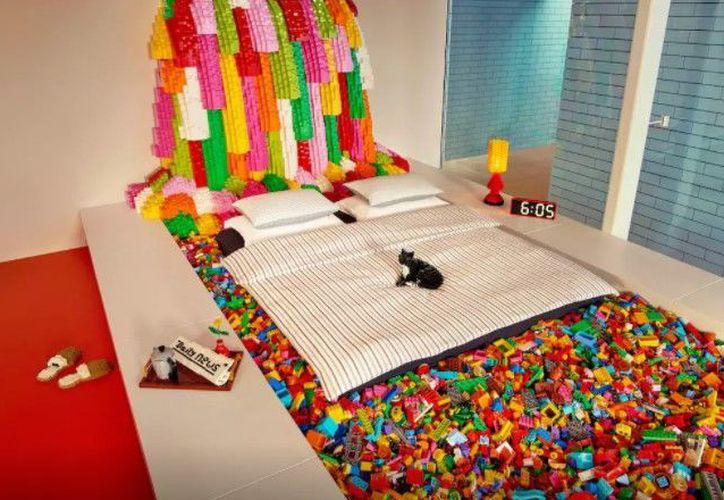 Lego y Airbnb lanzaron un concurso para que una familia pueda pasar una noche en la recién construida Casa Lego de Billund. (Airbnb).
