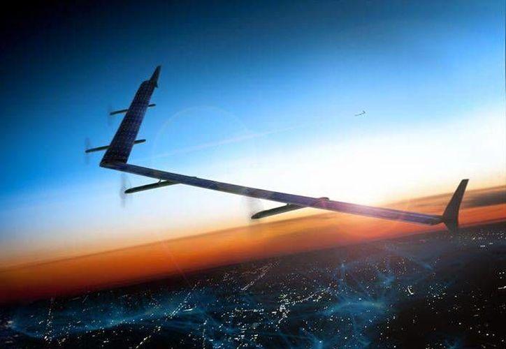 El dron Aquila, que posee un diseño en froma de 'V', será el elemento con el cual Facebook implementará Internet.org. (Facebook/Mark Zuckerberg)
