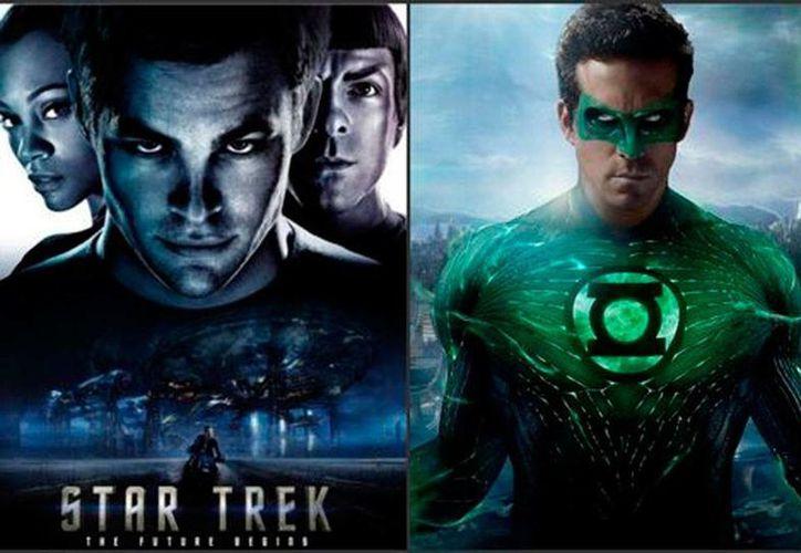 Los tripulantes del Entreprise y Linterna Verde protagonizan un nuevo cómic en el que unen fuerzas para combatir el mal. (Fotocomposición/Milenio Digital)