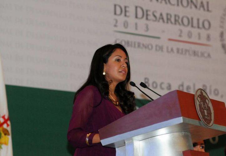 Mariana Benítez, subprocuradora de la PGR, participa en Bogotá en el 54 Período de Sesiones de la Comisión Interamericana para el Control del Abuso de Drogas.(comsocialver.gob.mx/Foto de archivo)