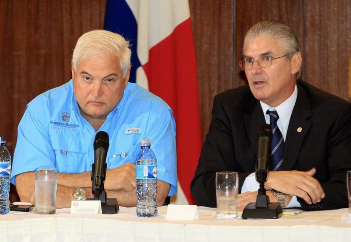 Martinelli (izq.) dijo que los motivos de Nicaragua no tienen fundamento. (EFE)
