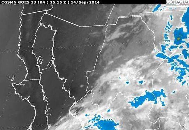 'Odile' se encuentra a poco menos de 400 kilómetros al sureste de Baja California Sur. (smn.cna.gob.mx)