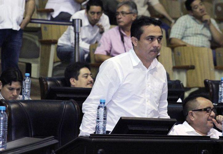 El diputado Rafael Chan Magaña pide licencia para separarse por tiempo indefinido de su cargo. (Jorge Pallota/SIPSE)
