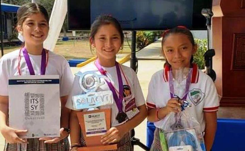 La participación de estas infantes de 10 años de edad en el concurso internacional, ya trascendió a medios nacionales. (Novedades Yucatán)
