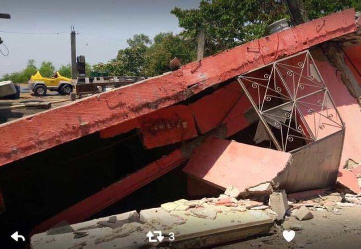 El deslave de la ribera del río Pichucalco-Grijalva, dejó casas completamente destruidas. (Foto: Excelsior)