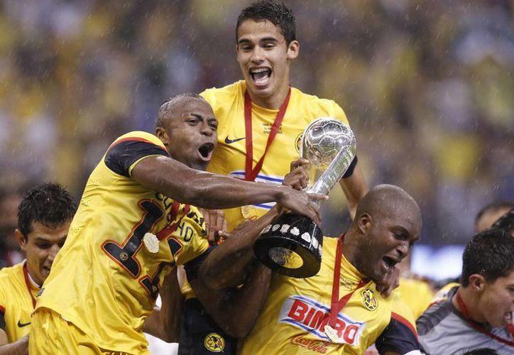 América, vencedor del torneo Clausura 2013 encabeza el Grupo Cuatro, acompañado del Alajuelense, de Costa Rica y Sporting San Miguelito, de Panamá. (Archivo Notimex)