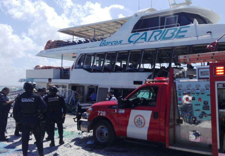 La explosión del ferry dejó 26 personas lesionadas, entre ellas, cinco estadounidenses. (Foto: Daniel Pacheco)