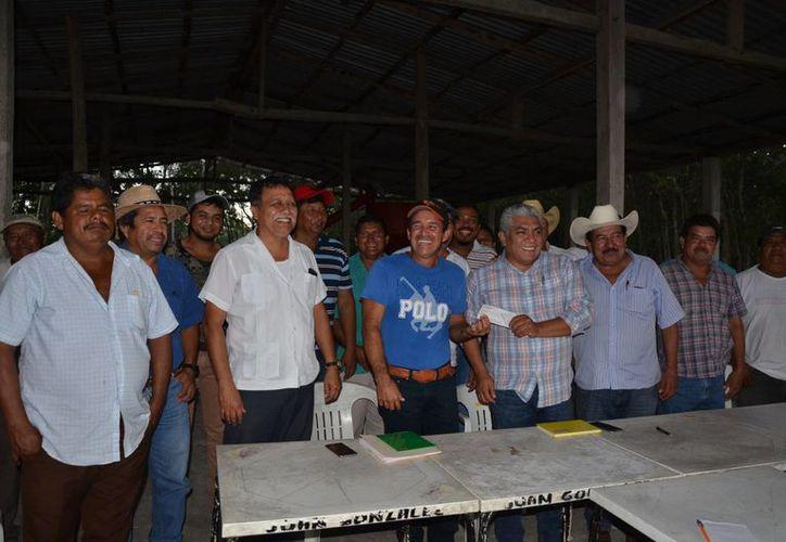 Beneficiados del  sector agropecuario y zonas rurales. (Juan Rodríguez/SIPSE)