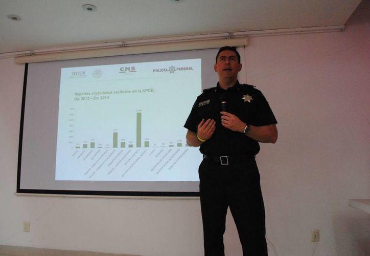 Presentaron estadísticas de los reportes ciudadanos recibidos en la Coordinación de Delitos Cibernéticos, de diciembre 2012 a diciembre 2014. (Eric Galindo/SIPSE)