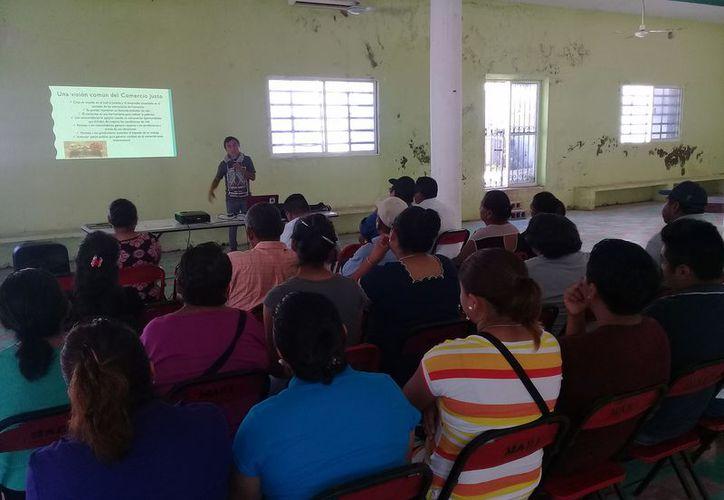 La capacitación se realizó en las instalaciones del club social ejidal. (Raúl Balam/SIPSE)