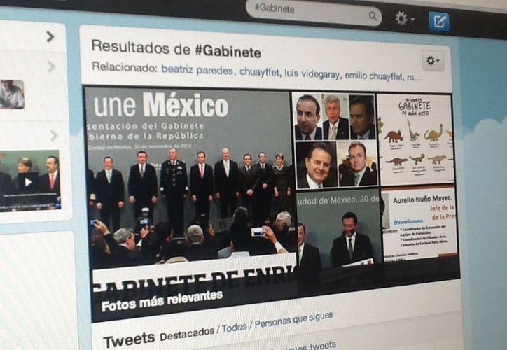 El hashtag #Gabinete se colocó como trending topic a nivel mundial. (Foto: Twitter)