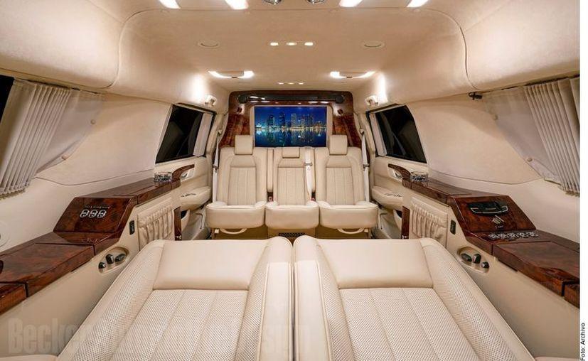 Detalle del lujoso interior de la 'troca' de Brady. (Foto: Reforma)