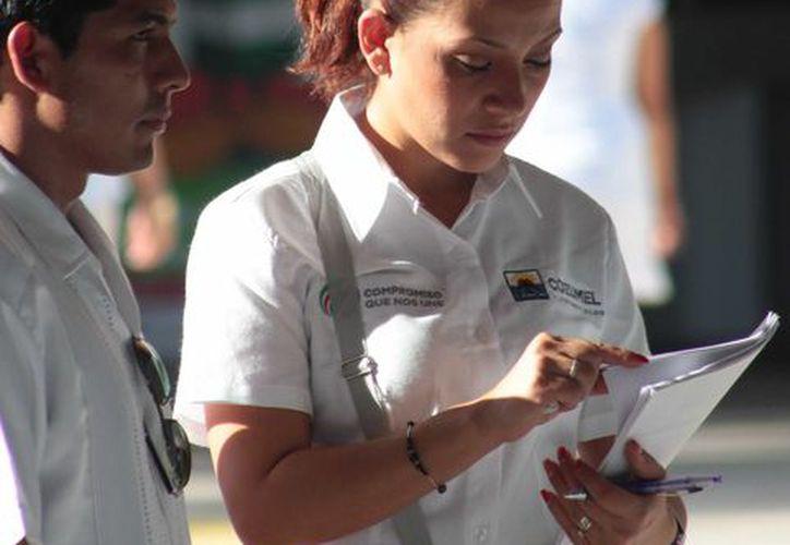 Los empleados sindicalizados del Ayuntamiento de Cozumel exigen un aumento salarial de 15 %. (Gustavo Villegas/SIPSE)