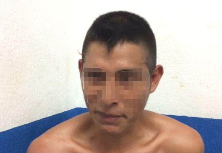 El sujeto de 32 años de edad y originario de Chiapas fue detenido en las inmediaciones de la colonia Bellavista. (SIPSE)