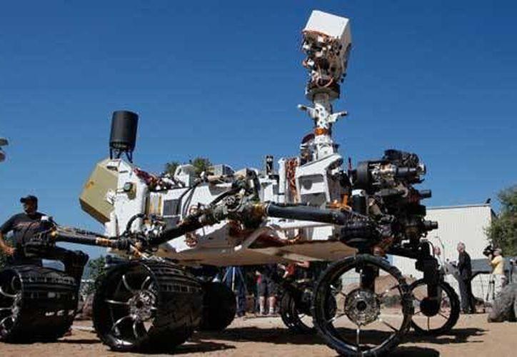 El robot Sonda Curiosity aterrizó en martes a mediados del 2012.  (www.razon.mx)
