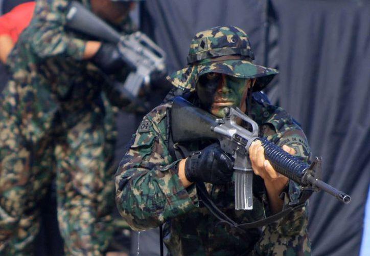 En el operativo BOM participan elementos de la Semar y del Ejército Mexicano. (Harold Alcocer/SIPSE)
