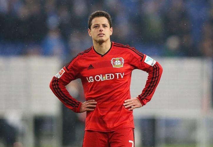 Apenas el sábado pasado, Javier Hernández rompió su mala racha de no anotar gol con el Bayer Leverkusen.(Foto tomada de Mediotiempo)