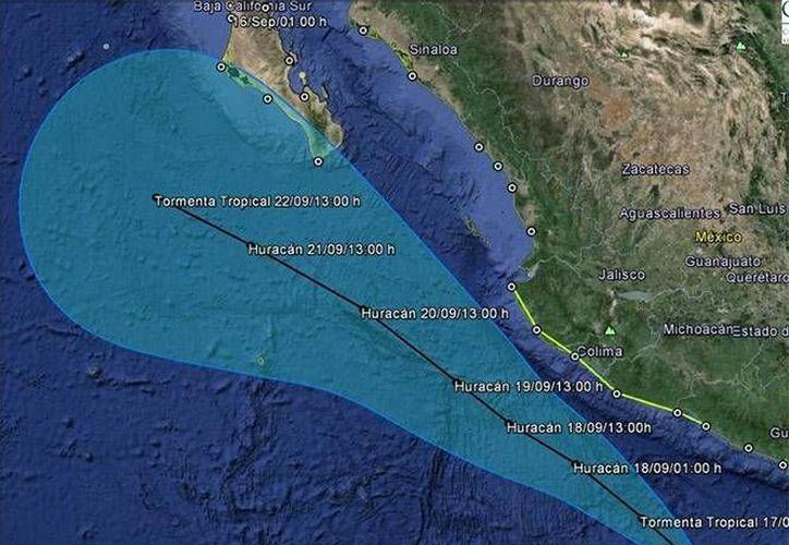 El SMN detalló que Odile favorecerá lluvias intensas en áreas de Sonora. (excelsior.com.mx)