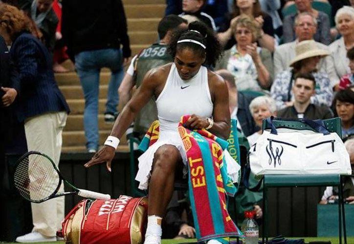 Serena Williams se encuentra preparando su siguiente partido en el Grand Slam de Wimbledon. (AP)