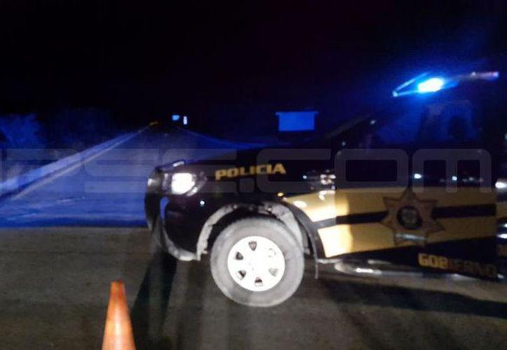 El accidente ocurrió la noche del martes en la vía Chicxulub Puerto-Chicxulub Pueblo. (Gerardo Keb/SIPSE)