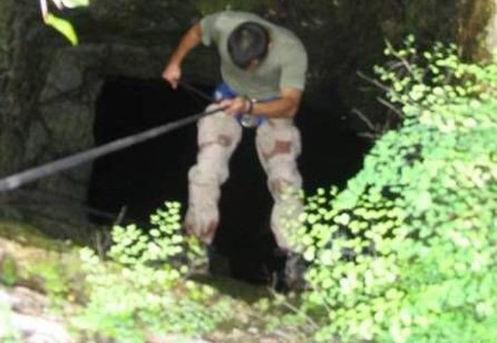 El potencial ecoturístico del gran cenote de Sacalaca no ha sido aprovechado. (Carlos Yabur/SIPSE)