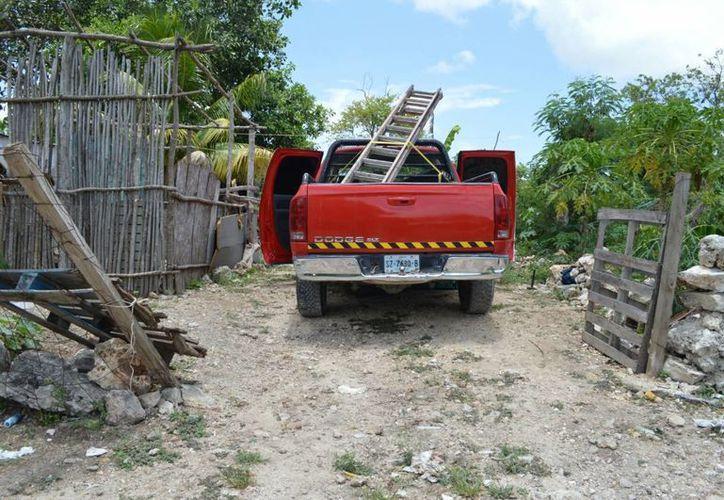 Señalan que la camioneta había sido robada en la Región 96. (Eric Galindo/SIPSE)