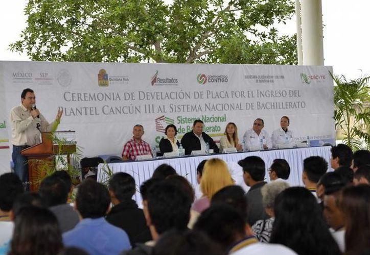 Las autoridades señalaron que con el ingreso del plantel se garantiza a los jóvenes la calidad educativa del plantel. (Cortesía)