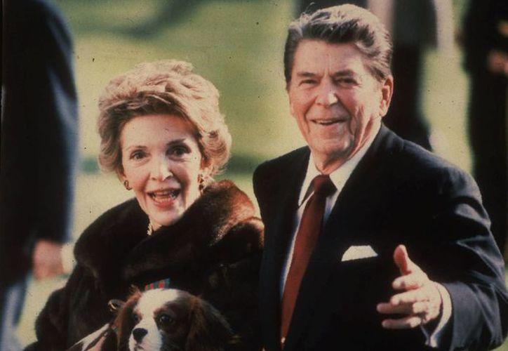 El matrimonio de Nancy con Ronald Reagan duró 52 años. (Agencias)