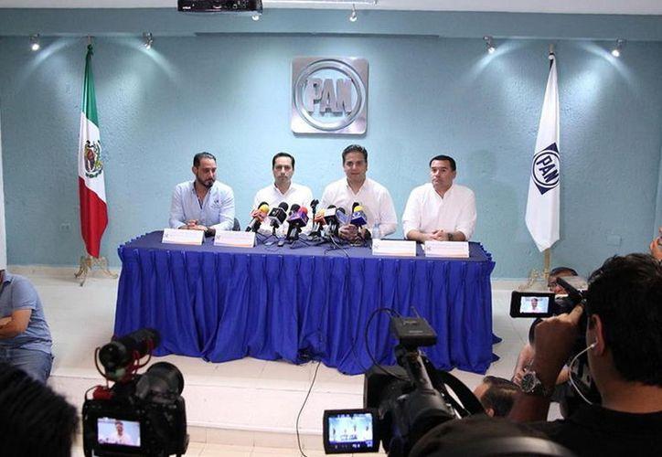 El dirigente nacional del PAN realizó una gira de trabajo por la capital yucateca. (Foto: Milenio Novedades)