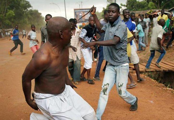 Brutal conflicto religioso entre cristianos y musulmanes en la República Centroafricana deja cientos de muertos en el lugar. (Archivo/Agencias)