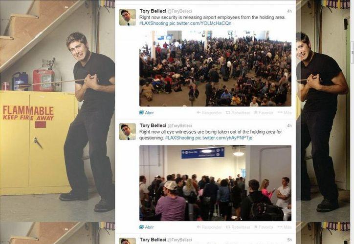 Tory Belleci hizo puntual seguimiento del hecho de sangre ocurrido en el aeropuerto de Los Angeles. (@ToryBelleci)