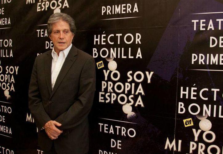 Hector Bonilla es divorciado de la actriz Socorro Bonilla y actualmente casado con la actriz Sofía Álvarez. (Notimex)