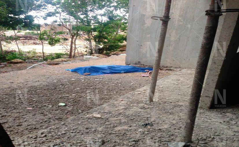 Muerte de un albañil yucateco en Cancún.(Foto: Novedades Yucatán)