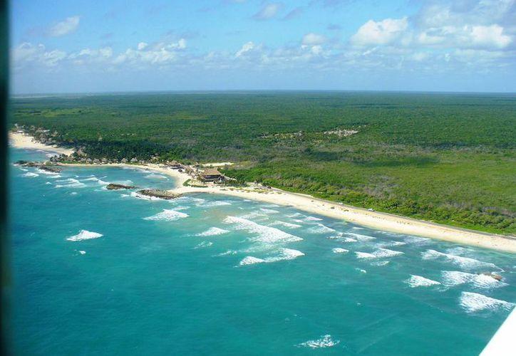 """El agua de las playas tulumnenses es """"apta"""" para los bañistas, según un informe publicado por la Semarnat.  (Foto de contexto/INTERNET)"""