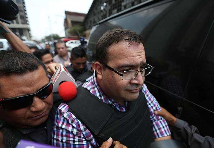 La audiencia del exgobernador de  Veracruz, Javier Duarte, se realiza hoy. (Exélcior)