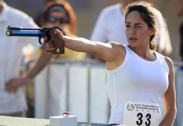 La mexicana Tamara Vega (foto) conquistó junto con su compatriota Ismael Hernández el segundo Mundial de Pentatlón Moderno en lo que va del año. Esta vez la competencia fue en Egipto. (sport614.com/Foto de archivo)