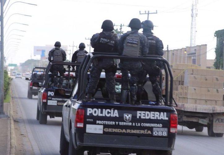 El convoy ingresó a la ciudad aproximadamente a las 9 horas de ayer. (Redacción/SIPSE)