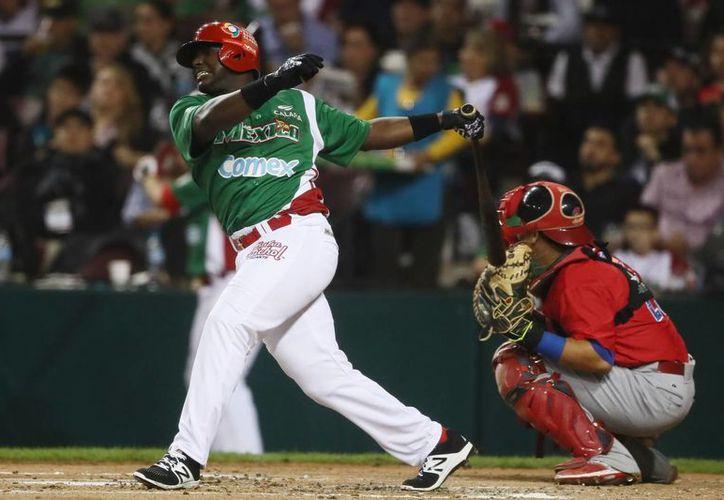 Ronnier Mustelier fue una de las piezas claves para que México pudiera ganar en su debut en la Serie del Caribe, realizada en Culiacán, Sinaloa. (Jammedia)