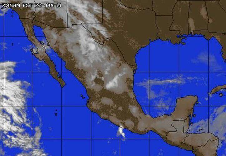 Un Sistema Anticiclónico débil impulsa aire marítimo tropical con poco contenido de humedad hacia la Península de Yucatán. (Foto/accuweather.com)