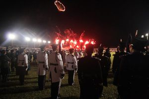 Ensamble de escoltas y bandas de guerra cautiva a Chetumal